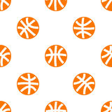 Seamless pattern with basketball Stock Images