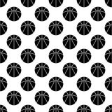Seamless pattern with basketball Stock Photography