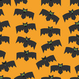 Seamless pattern of bats, decorative background for Halloween Stock Image