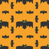 Seamless pattern of bats, decorative background for Halloween Stock Photography