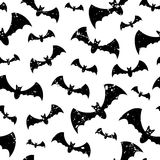 Seamless pattern with bats Stock Images