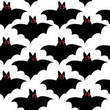 Seamless pattern with bats for halloween. Vector illustration Stock Photography