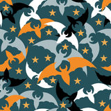 Seamless pattern. The bats. Halloween. Seamless pattern. Multi-colored bats. Helloween.Vector Illustration Stock Images