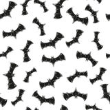 Seamless pattern with bats Stock Photography