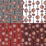 Seamless pattern with beads. On different backgrounds Stock Photos