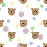 Seamless pattern with bear vector illustration