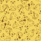 Seamless pattern of bears Royalty Free Stock Photography