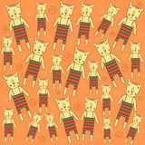Seamless pattern with bears Stock Images