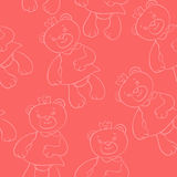 Seamless pattern with bears girls Stock Image