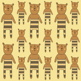 Seamless pattern with bears Royalty Free Stock Images