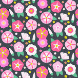 Seamless pattern with beautiful bindweeds Stock Photography