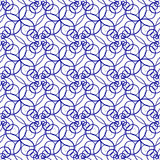 Seamless pattern of beautiful blue curly lines Stock Image