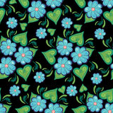 Seamless pattern with blue flowers Stock Image
