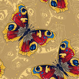 Seamless pattern with beautiful butterflies royalty free stock image