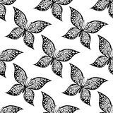 Seamless pattern of beautiful butterfly Stock Photos