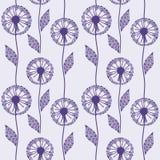 Seamless pattern with beautiful dandelion Stock Image