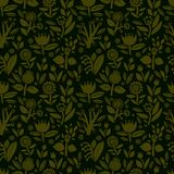 Seamless pattern with different colors on a dark background. Seamless  pattern with beautiful flowers on a dark background Stock Image