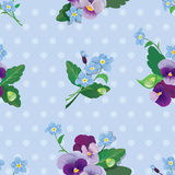 Seamless pattern with beautiful flowers - forget m Royalty Free Stock Images