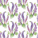Seamless pattern with Beautiful flowers, Watercolor painting Stock Photography