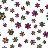 Seamless pattern with beautiful flowers Stock Photo