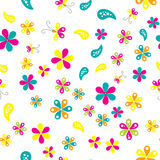 Seamless pattern with beautiful flowers Stock Photos