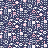 Seamless pattern with beautiful gentle bindweeds  Royalty Free Stock Photo