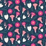 Seamless pattern with beautiful gentle bindweeds.   Stock Photo