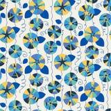 Seamless pattern with beautiful gentle bindweeds. Royalty Free Stock Photos