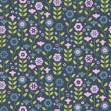 Seamless pattern with beautiful gentle bindweeds.  Royalty Free Stock Photography