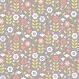 Seamless pattern with beautiful gentle bindweeds.  Stock Photos