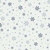 Seamless pattern with beautiful gray flowers Stock Images