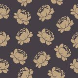 Seamless pattern with beautiful hand drawn floral background Stock Image