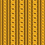 Seamless pattern with beautiful jewelry gold Royalty Free Stock Images