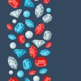 Seamless pattern with beautiful jewelry precious Stock Photography