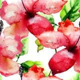 Seamless pattern with Beautiful Lily flower Stock Photo