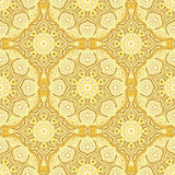 Seamless pattern with beautiful Mandalas in lemony colors. Vector illustration Royalty Free Stock Image