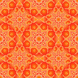 Seamless pattern with beautiful Mandalas in peach colors. Vector illustration Royalty Free Stock Photo