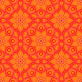 Seamless pattern with beautiful Mandalas in peach colors. Vector illustration Royalty Free Stock Images