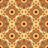 Seamless pattern with beautiful Mandalas. Vector illustration Royalty Free Stock Image