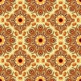 Seamless pattern with beautiful Mandalas. Vector illustration Royalty Free Stock Image