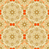 Seamless pattern with beautiful Mandalas. Vector illustration Royalty Free Stock Images