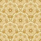 Seamless pattern with beautiful Mandalas. Vector illustration Stock Images