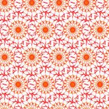 Seamless pattern of beautiful orange and red curly lines. Beautiful patterned background for your design Royalty Free Stock Images