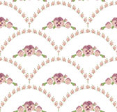 Seamless pattern beautiful pansies flowers, white background, pink floral ornament. Seamless pattern beautiful purple pansies flowers, beige background, violet Royalty Free Stock Image