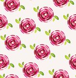 Seamless pattern with beautiful pink flowers Royalty Free Stock Photography