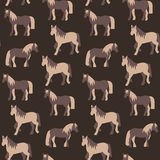 Seamless pattern of beautiful prancing horses in pastel colours Royalty Free Stock Image