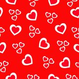 Seamless pattern with beautiful red hearts. Love and Holiday theme. Happy Valentines day. Vector illustration. Heart seamless pattern.Colorful hearts.Packaging stock illustration