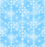 Seamless Pattern with Beautiful Snowflakes Royalty Free Stock Image
