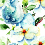 Seamless pattern with Beautiful summer flowers Royalty Free Stock Photos