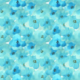 Seamless pattern with beautiful watercolor flowers. Seamless pattern with beautiful blue watercolor flowers Stock Photo